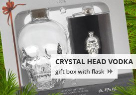 Dan Aykroyd's Crystal Head Vodka 0.7L (40% Vol.) gift box with flask